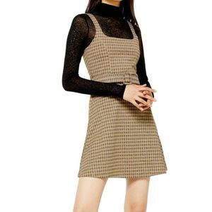 NWT Topshop Check Belted Mini Dress